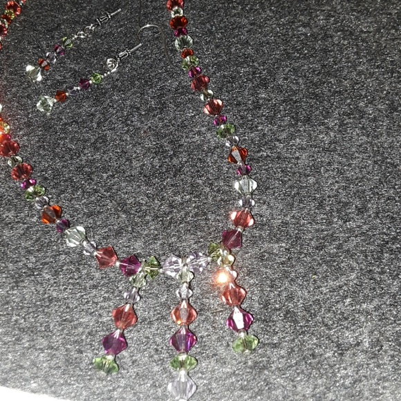 Crystallized Swarovski Elements Necklace & Earring